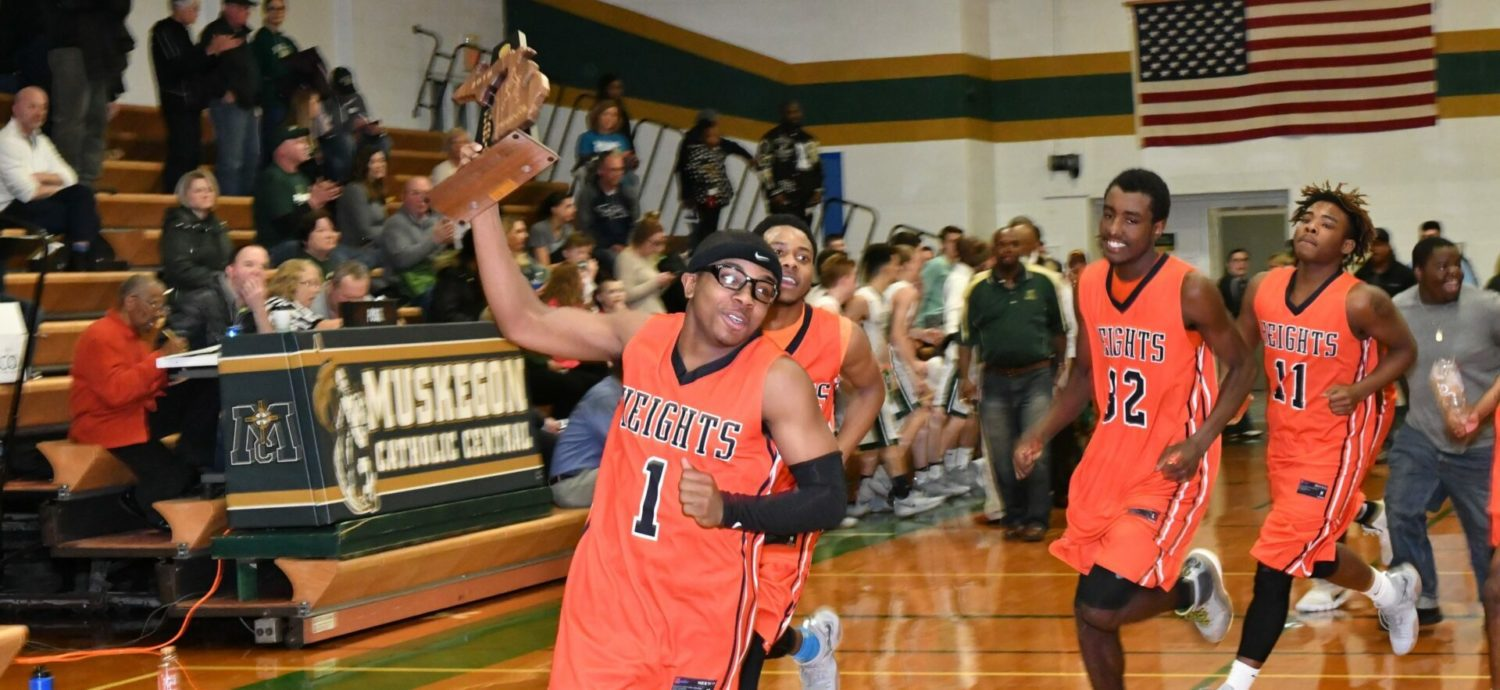 Muskegon Heights beats MCC 57-44, wins championship in its first Class D district