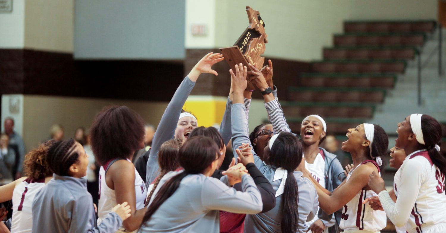Third try's a charm for Dowell, who leads the Big Red girls to a Class A regional title