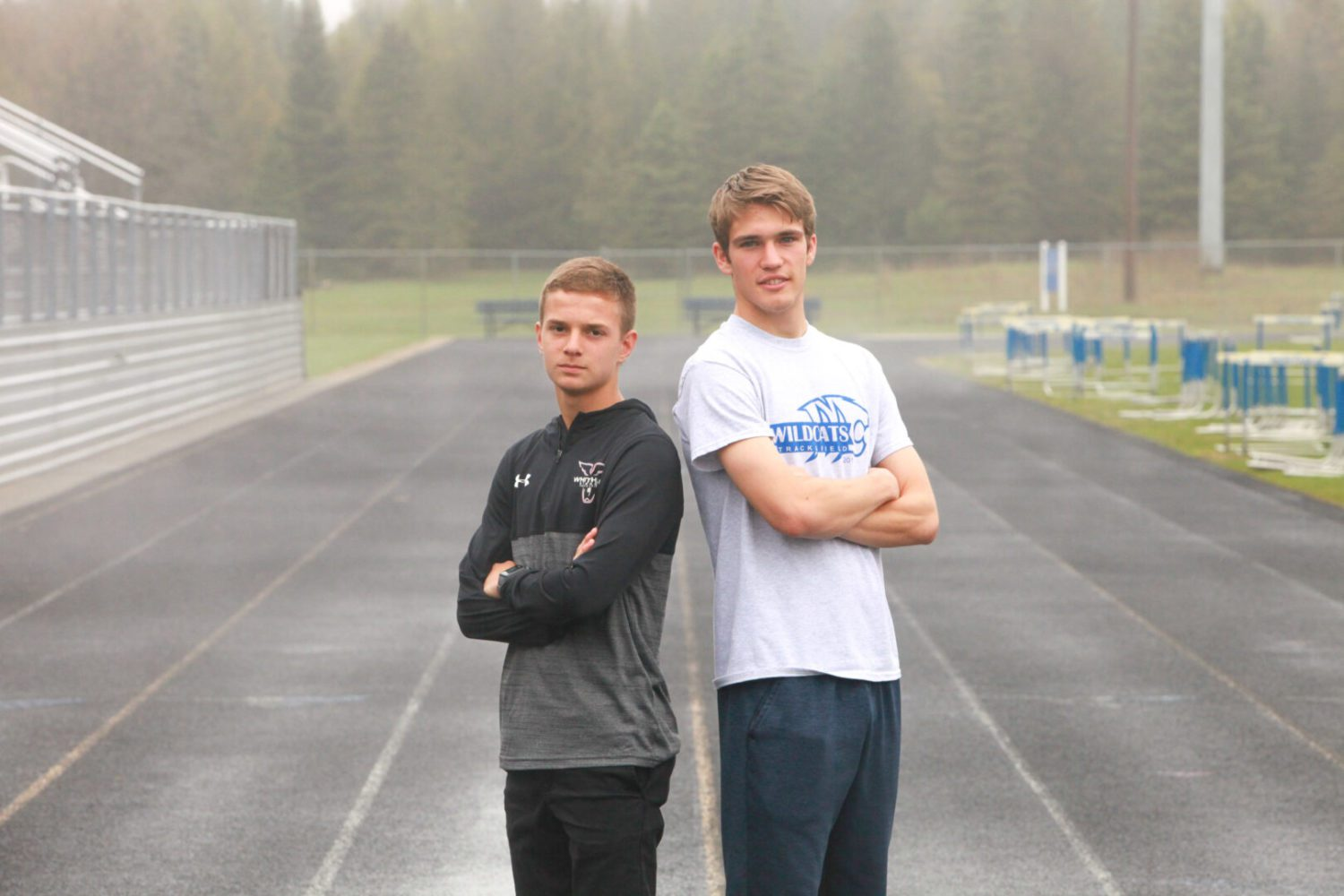 Montague's Jensen, Whitehall's Baustert constantly push each other in distance events