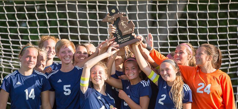 North Muskegon girls soccer team remains unbeaten, wins district title