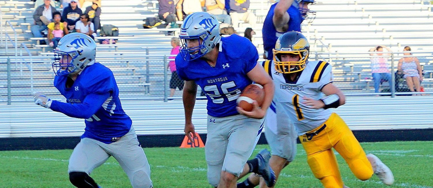 Montague continues its offensive fireworks with a 62-20 win over North Muskegon