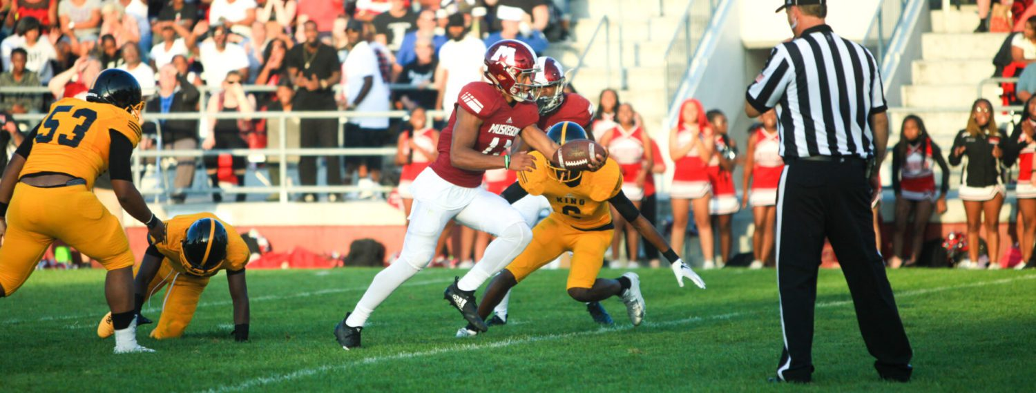Big Reds rally for a 24-21 victory over Detroit King in battle of state powers