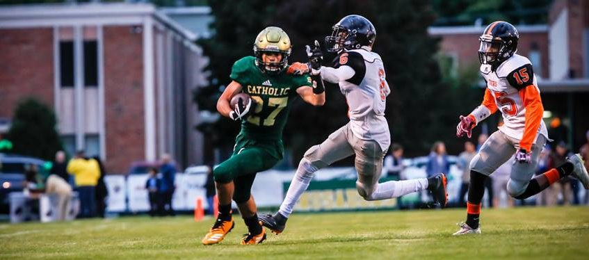 Muskegon Catholic evens record with easy conference win over Heights