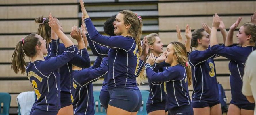 Rising Norse volleyball team tunes up for districts by beating Reeths-Puffer