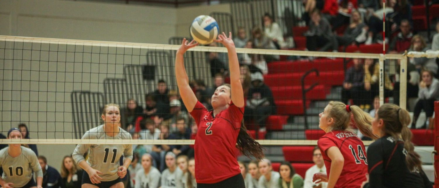 Whitehall volleyball team stuns powerful Fruitport in first round of districts