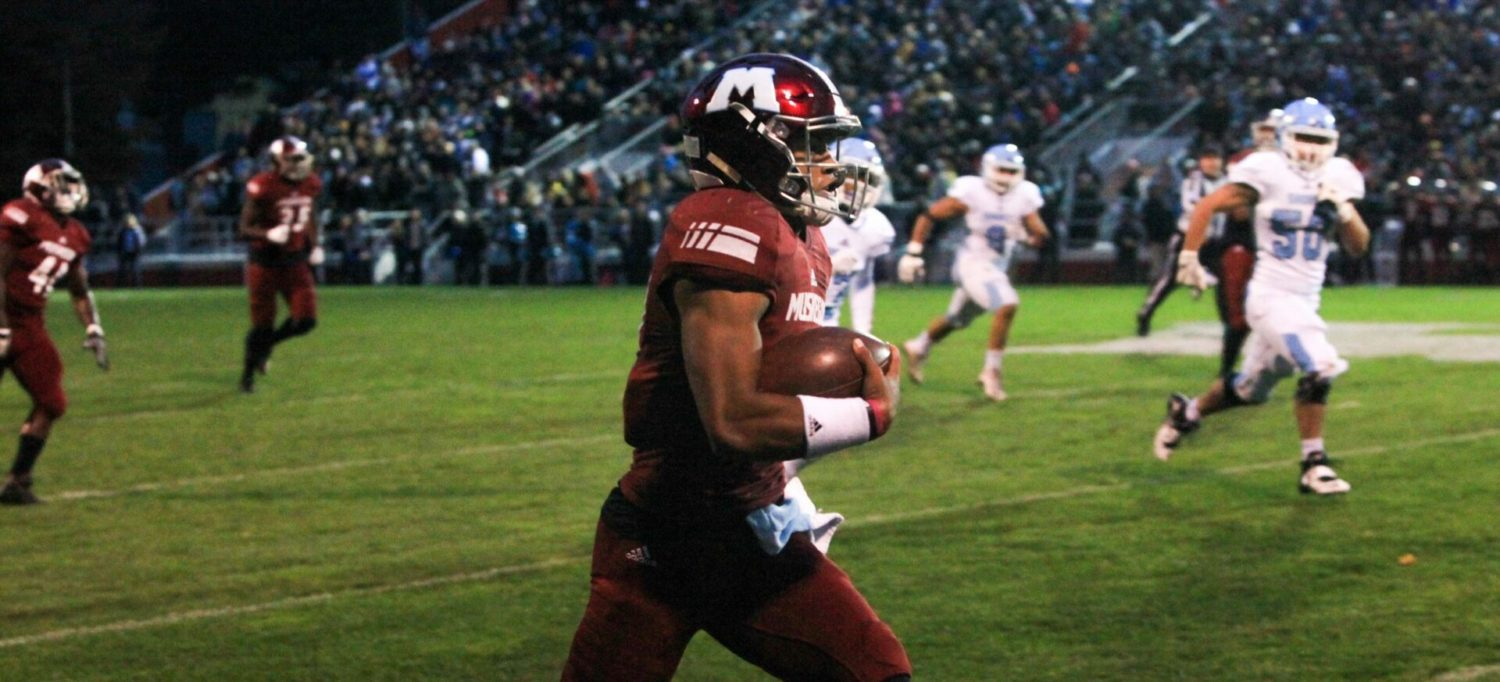 Cameron Martinez rushes for 352 yards, Big Reds power past Mona Shores 55-35
