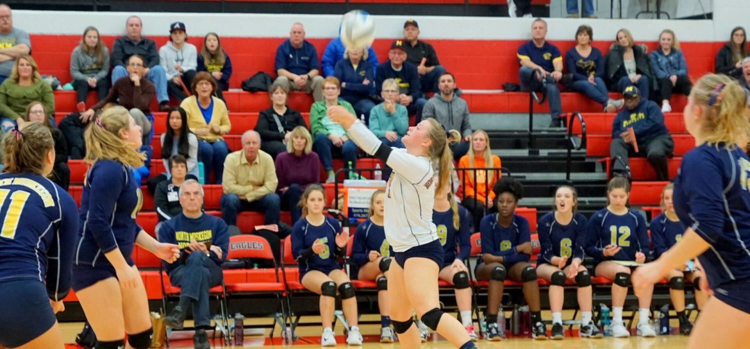 North Muskegon volleyball season ends with a four-set loss in regional finals