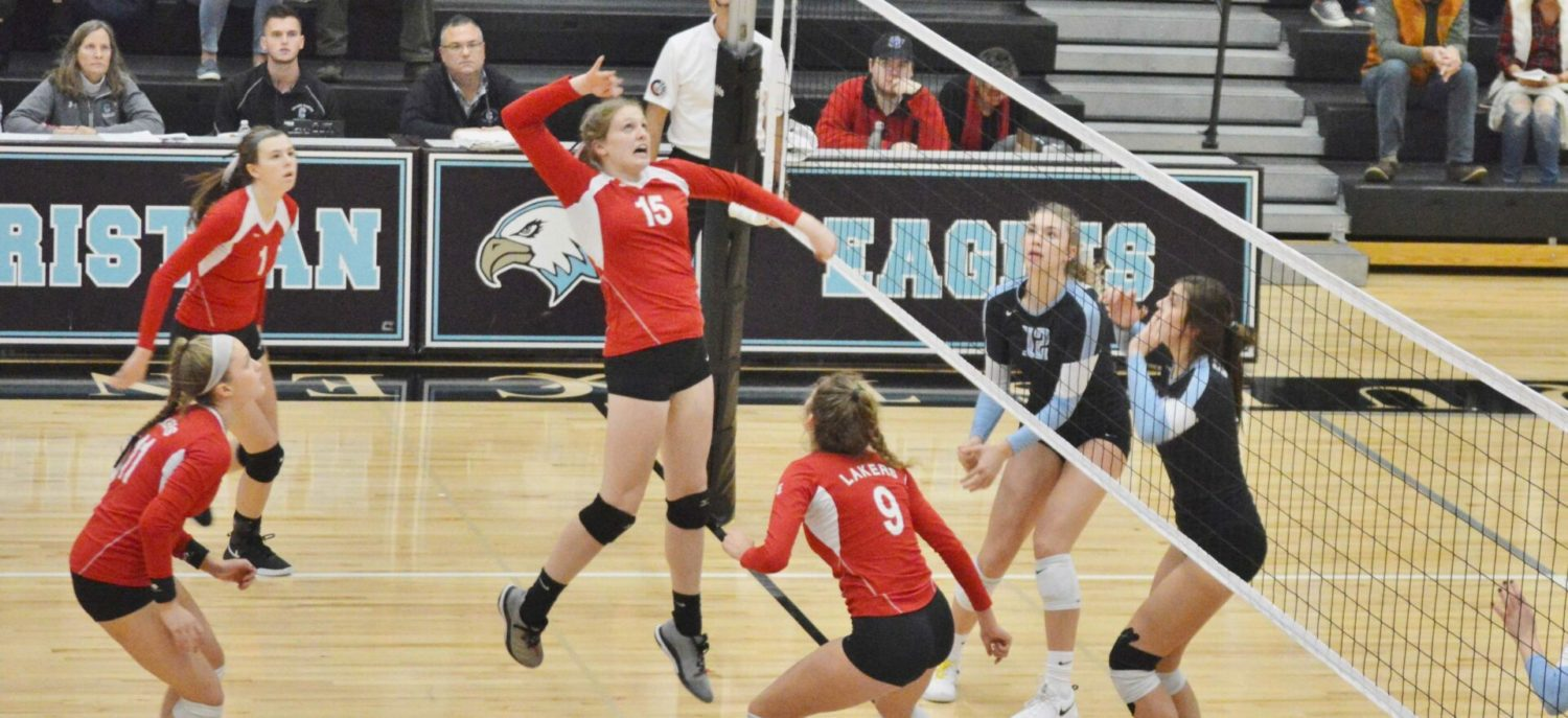 Spring Lake volleyball team falls to GR Christian in Division 2 regional finals