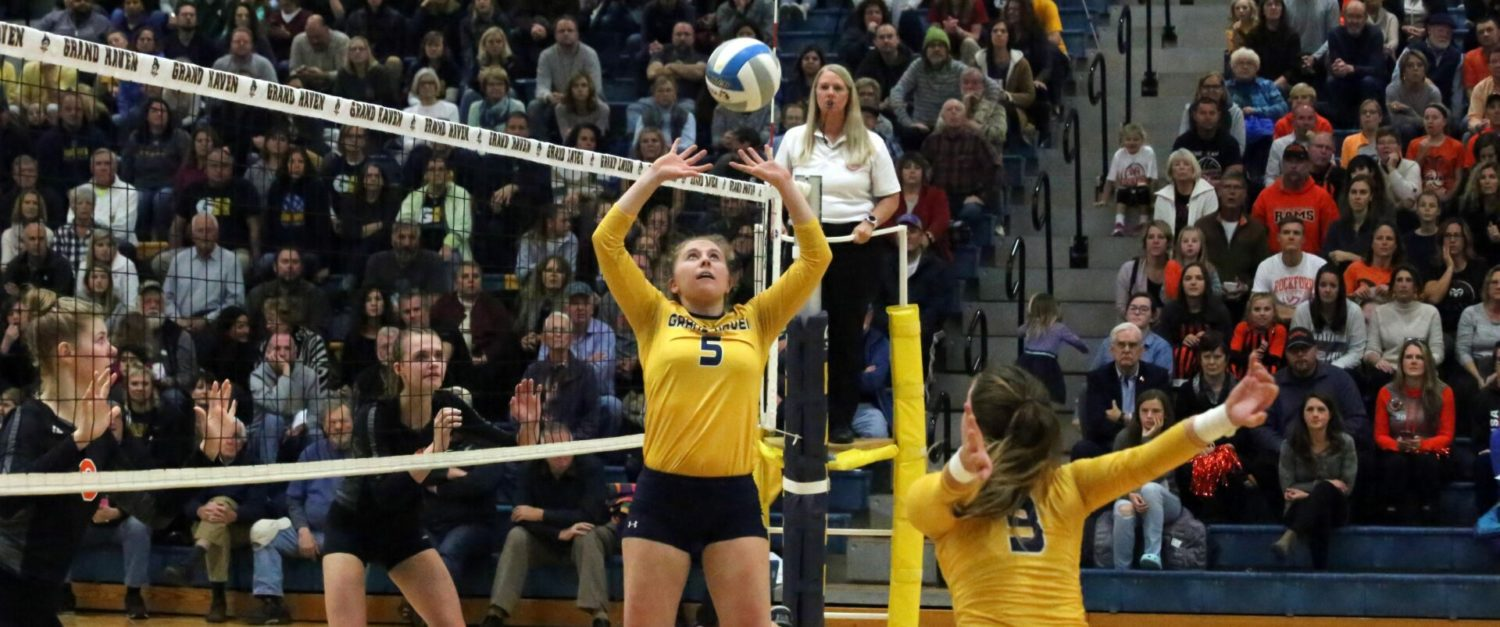 Grand Haven loses to conference foe Rockford in regional volleyball finals