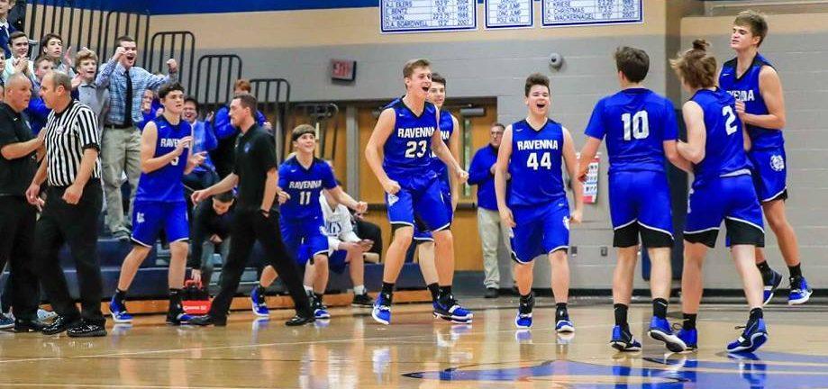 Ravenna erases 18 point deficit, stings Montague in WMC boys basketball clash