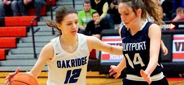 Oakridge girls basketball team cruises past Fruitport, wins another district championship
