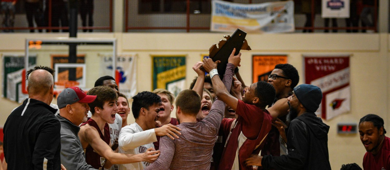 Mitchell's bucket with two seconds left gives Orchard View boys first district title since 1995