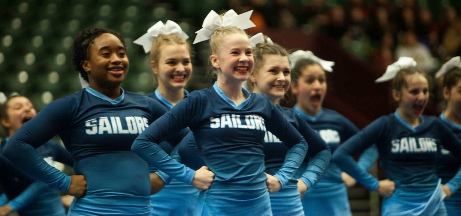 Mona Shores competitive cheer team finishes third at Division 2 state championship meet