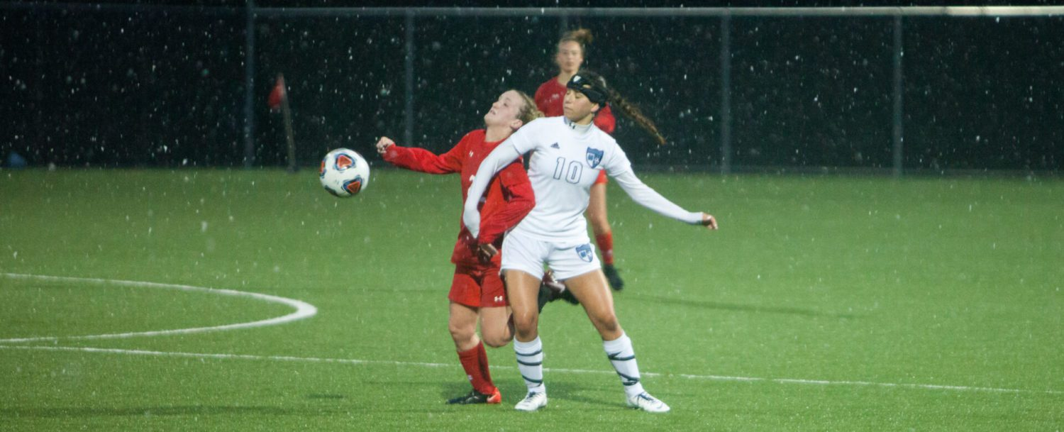 Mona Shores, Spring Lake battle to a 1-1 girls soccer tie in the April rain and snow