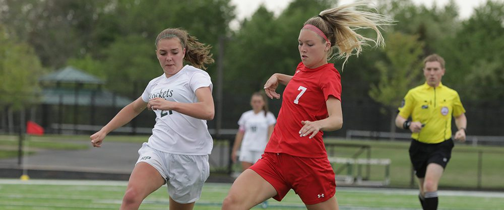 Spring Lake girls soccer team erupts late, wins fifth consecutive district championship