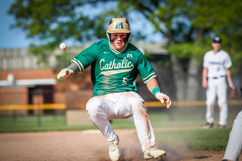 Muskegon Catholic baseball team captures ninth consecutive district championship