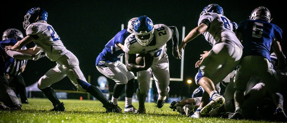 Oakridge sneaks past Montague 15-13 by stopping a 2-point conversion attempt in overtime