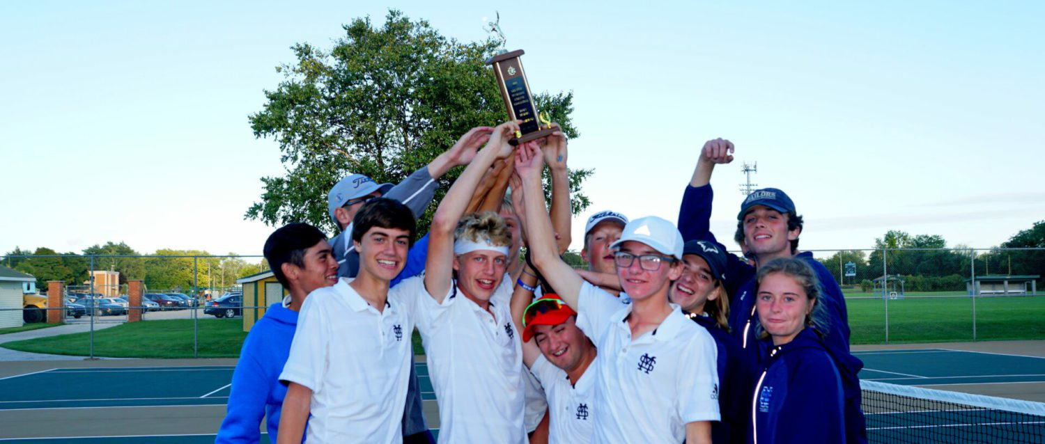 Mona Shores jumps to the top of the city tennis field; VanBergen claims No. 1 singles championship