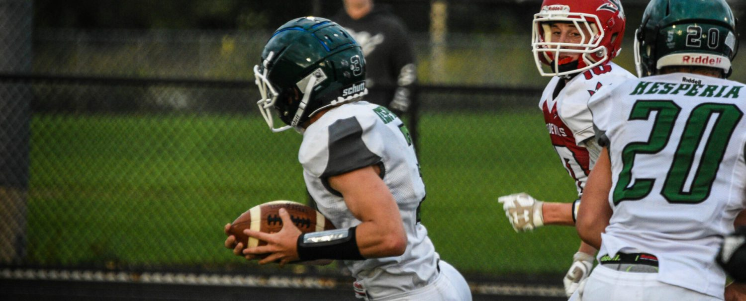 Hesperia running back Logan Pearson the talk of the town after gaining 370 yards