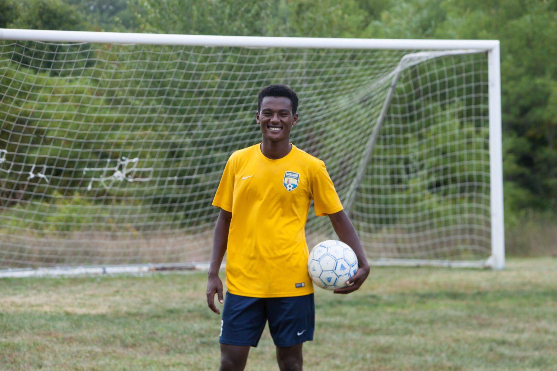 Fruitport Calvary senior Ben Zelenka – who is actually 17- leading Eagles soccer squad to a great start