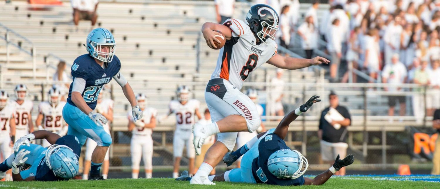 No. 1 ranked Mona Shores loses first-half lead, falls to Rockford 34-21 in a battle of state powers