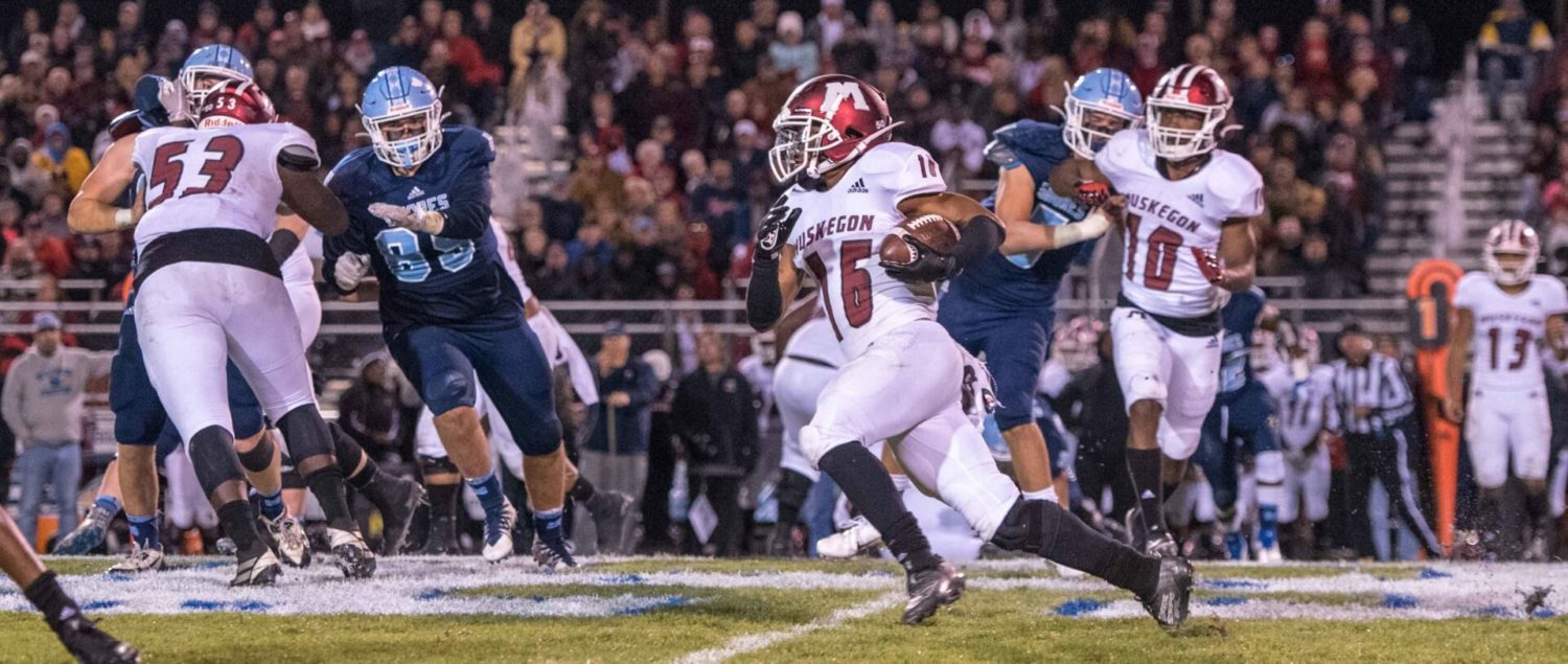Big Reds make a major statement against Mona Shores, plowing the Sailors 53-0
