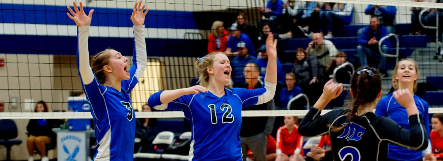 Montague volleyball ends district title drought with a straight-set win over Whitehall