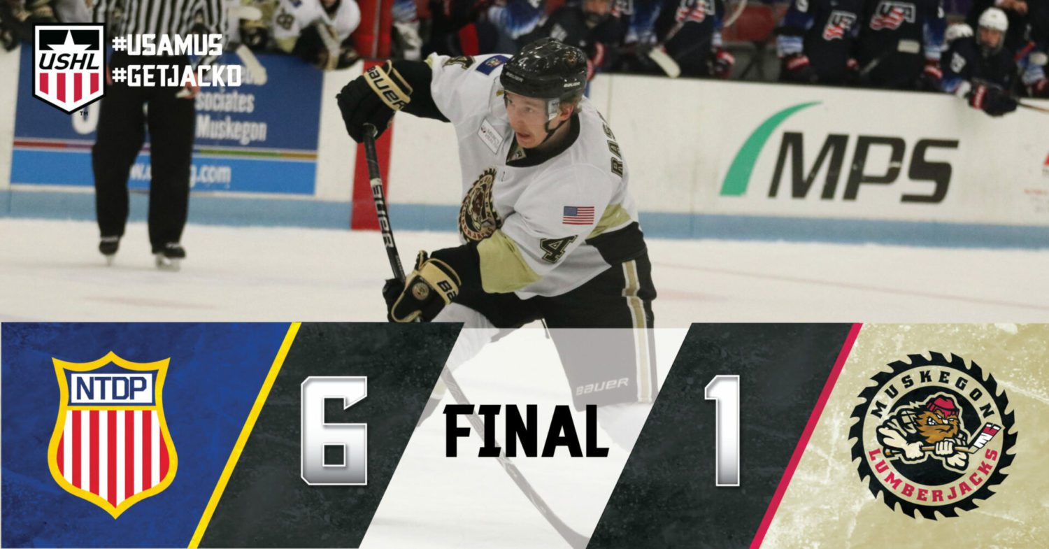 Rough road continues for Muskegon in 6-1 loss to host Team USA U18