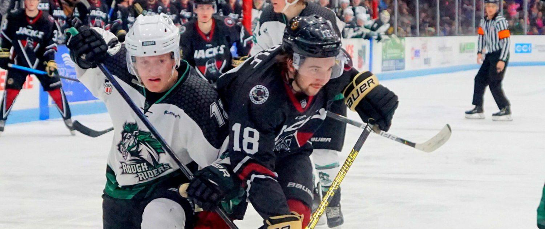 Lumberjacks complete weekend sweep with a 3-2 win, extend winning streak to four games