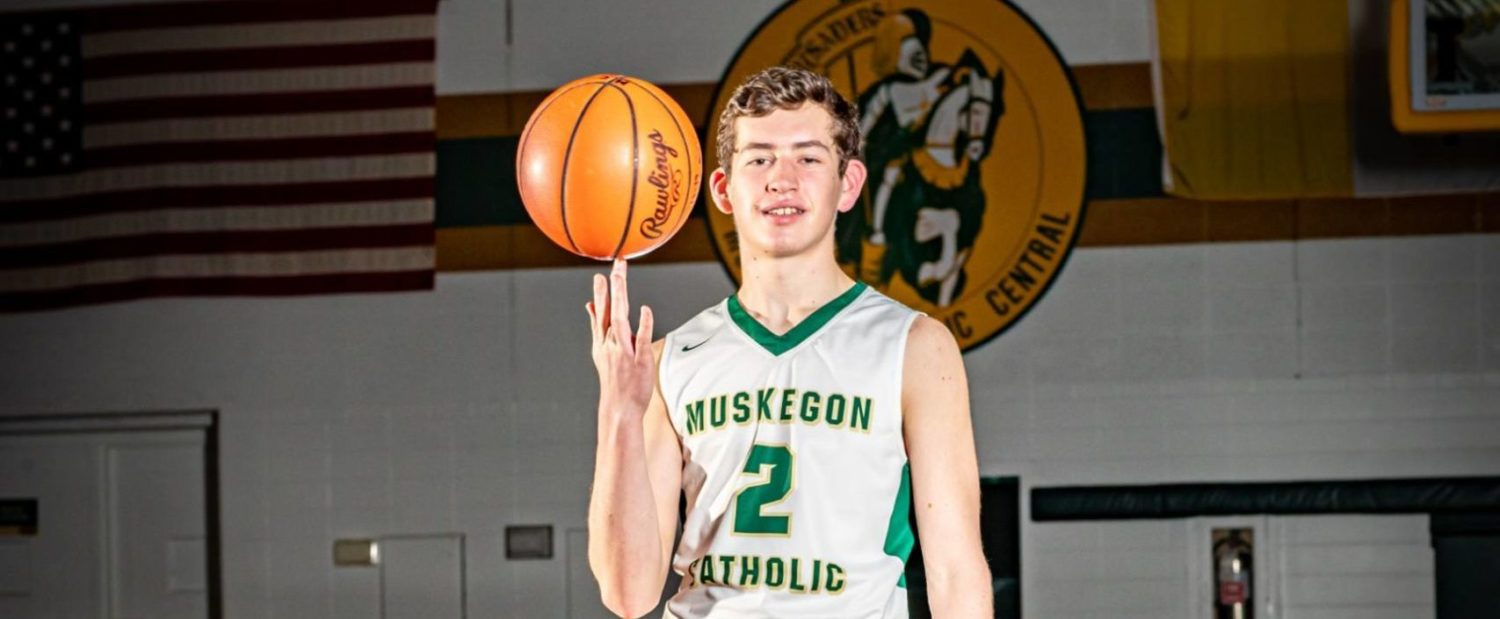 Standout guard Dugener is the go-to guy for the young Muskegon Catholic Crusaders