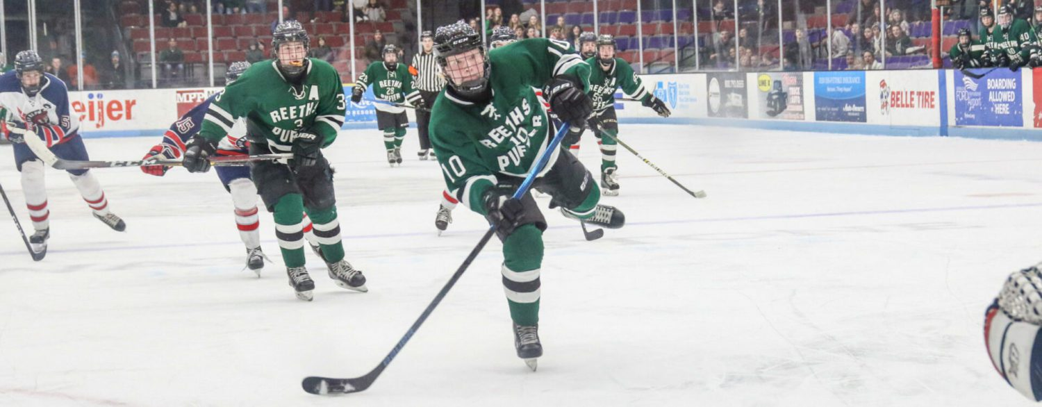 Reeths-Puffer hockey team holds on for a 3-2 victory in regional tournament opener