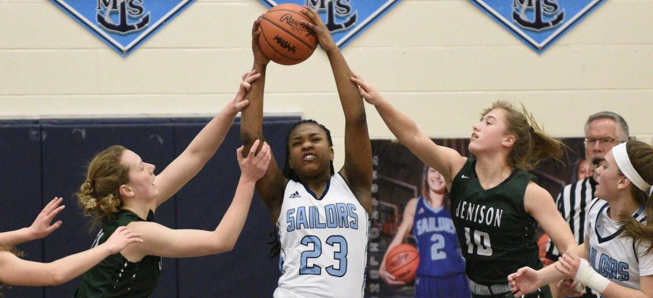 Mona Shores girls keep playing spoiler role with an upset of first-place Jenison