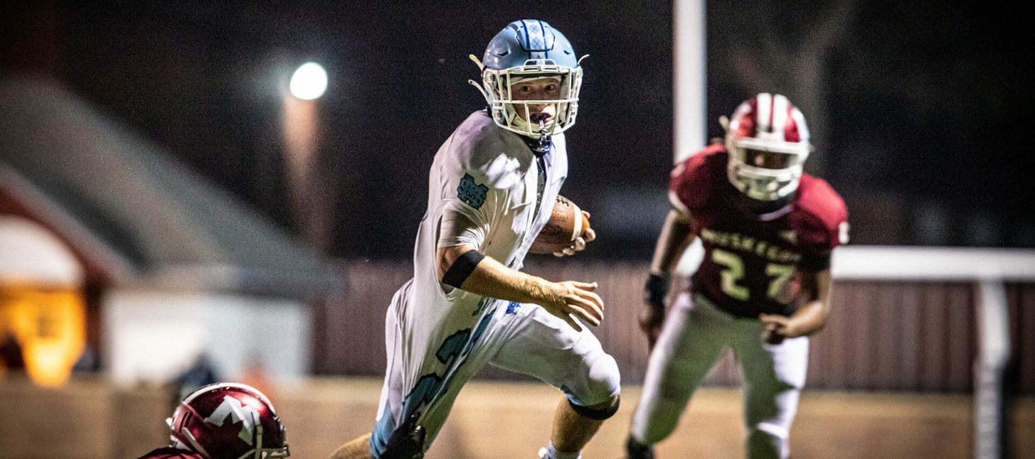Brady Rose and his Mona Shores teammates get past Muskegon 21-14, avenging last year's ugly loss