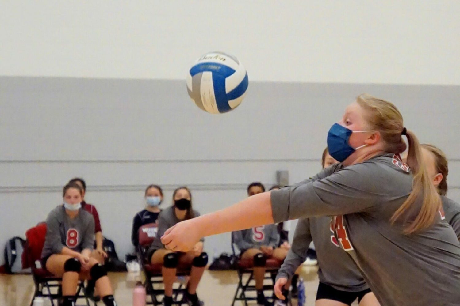 Orchard View volleyball team earns a much-needed victory in straight sets over Muskegon Big Reds