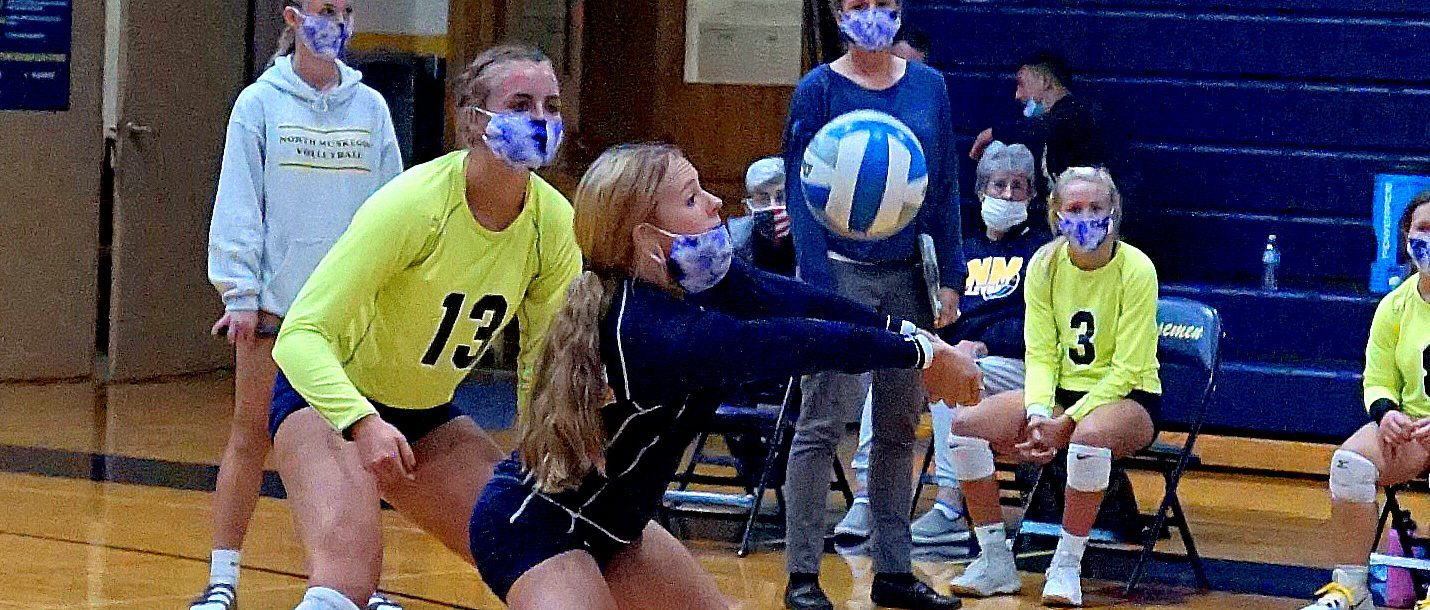 North Muskegon volleyball team rallies past Hart, remains perfect in West Michigan Conference play