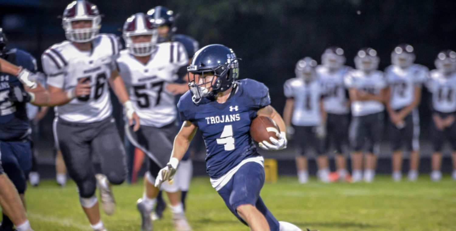 Fruitport Trojans get their offense rolling, win first game of the season 44-15 over Holland Christian