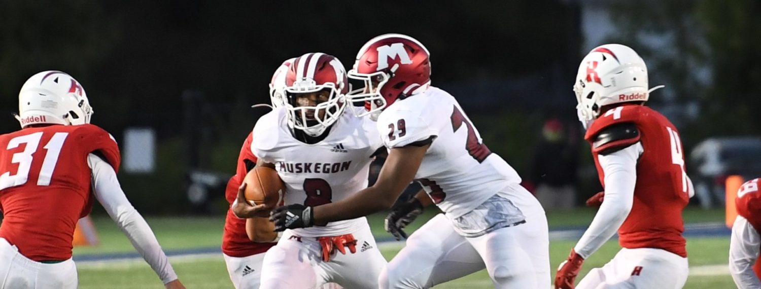 Muskegon Big Reds open season with a 59-14 pounding of Holland in O-K Green matchup