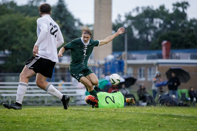 Western Michigan Christian soccer team wins a 2-1 thriller over Ludington in a key Lakes 8 battle