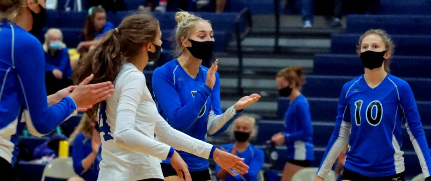 Talented, determined Montague volleyball squad sweeps Shelby to keep pace in conference race