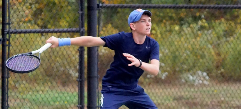 Mona Shores star freshman Drew Hackney got a taste of state tennis finals, and future looks bright