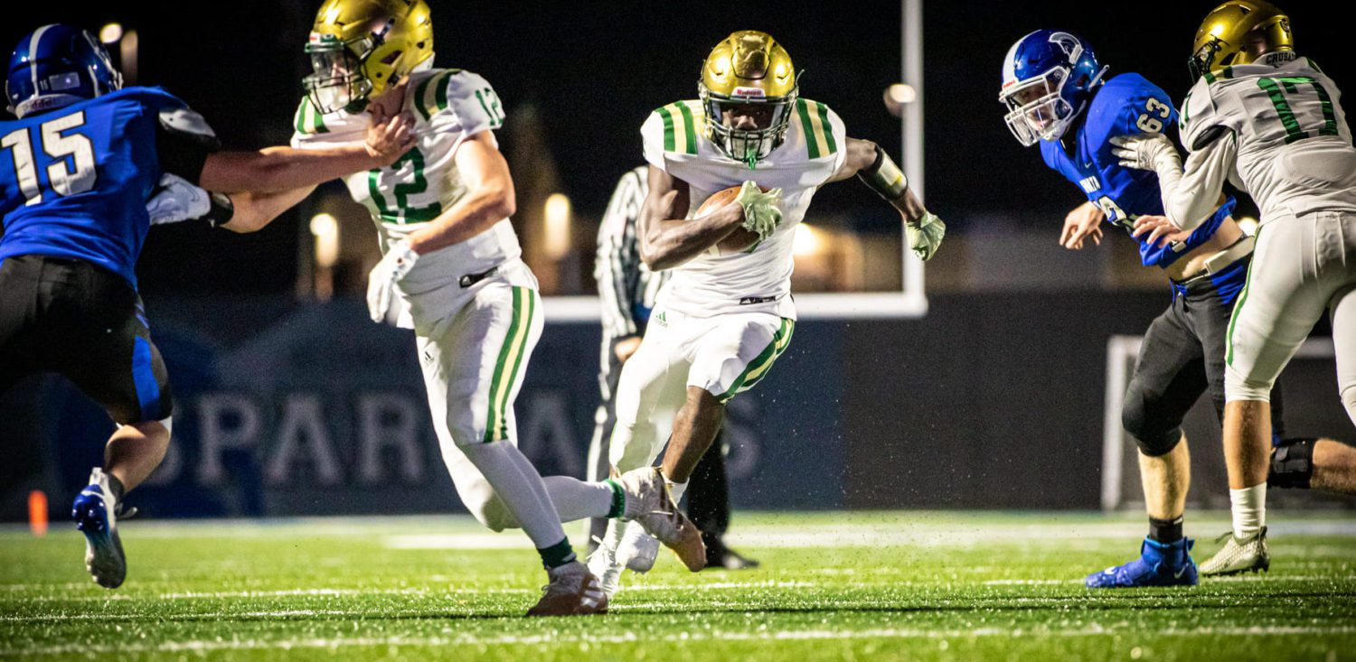 Muskegon Catholic Central remains unbeaten after going on the road and throttling Sparta 42-6