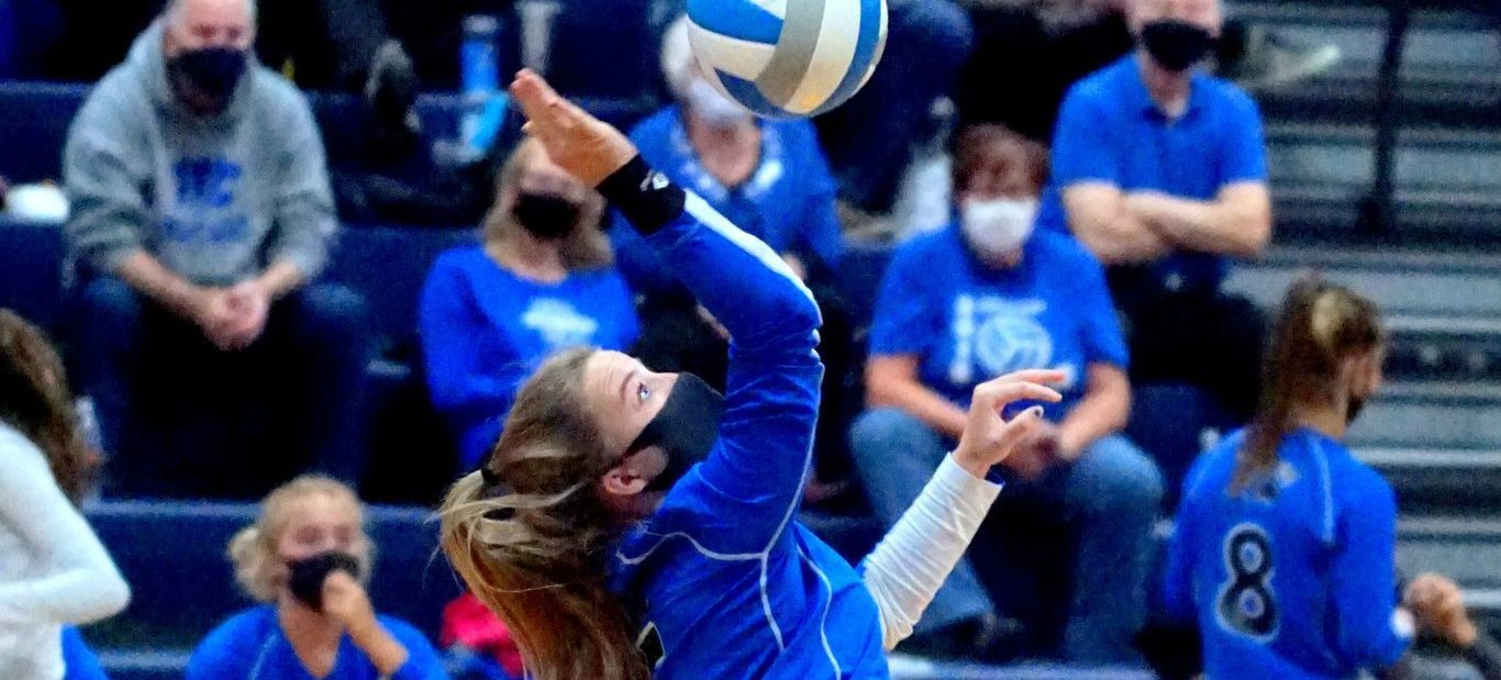 Montague volleyball team beats Norse in showdown, wins second straight conference championship
