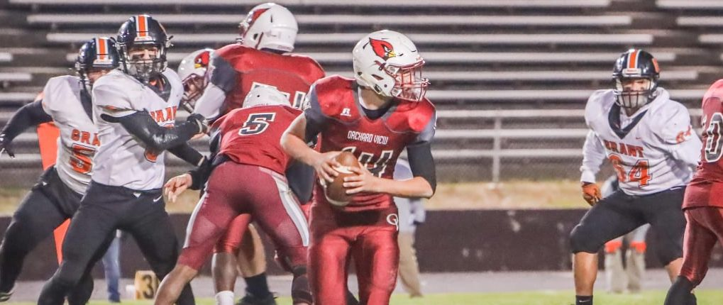 Young Orchard View football squad stumbles in Division 5 playoff opener, losing 49-16 to Grant