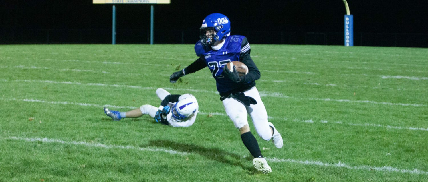Ravenna, playing without Coach Ego, rolls to an easy 31-0 victory over Morley Stanwood in D7 playoffs