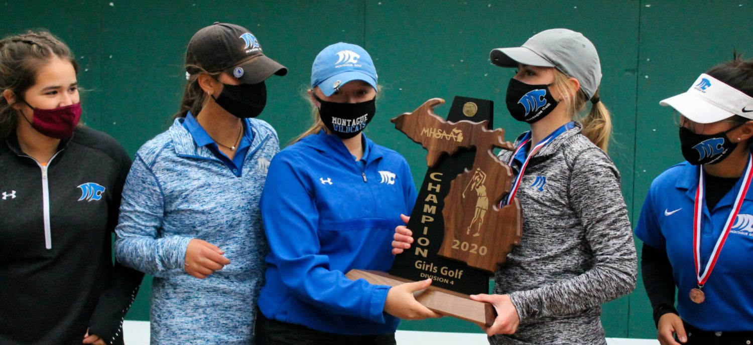 Montague girls golf team runs away from the competition at MSU, captures Division 4 state championship