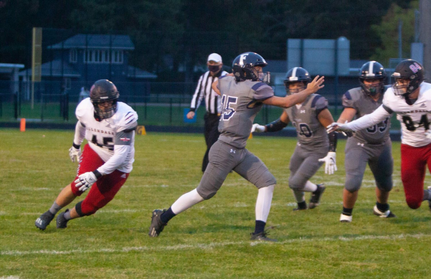 Fruitport puts up a fight, but succumbs to big-play Allendale 45-28 in the first game between the teams
