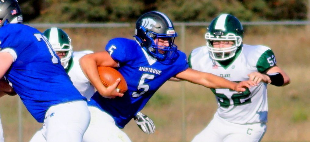 Montague football team plows past previously unbeaten Clare, setting up playoff showdown with MCC