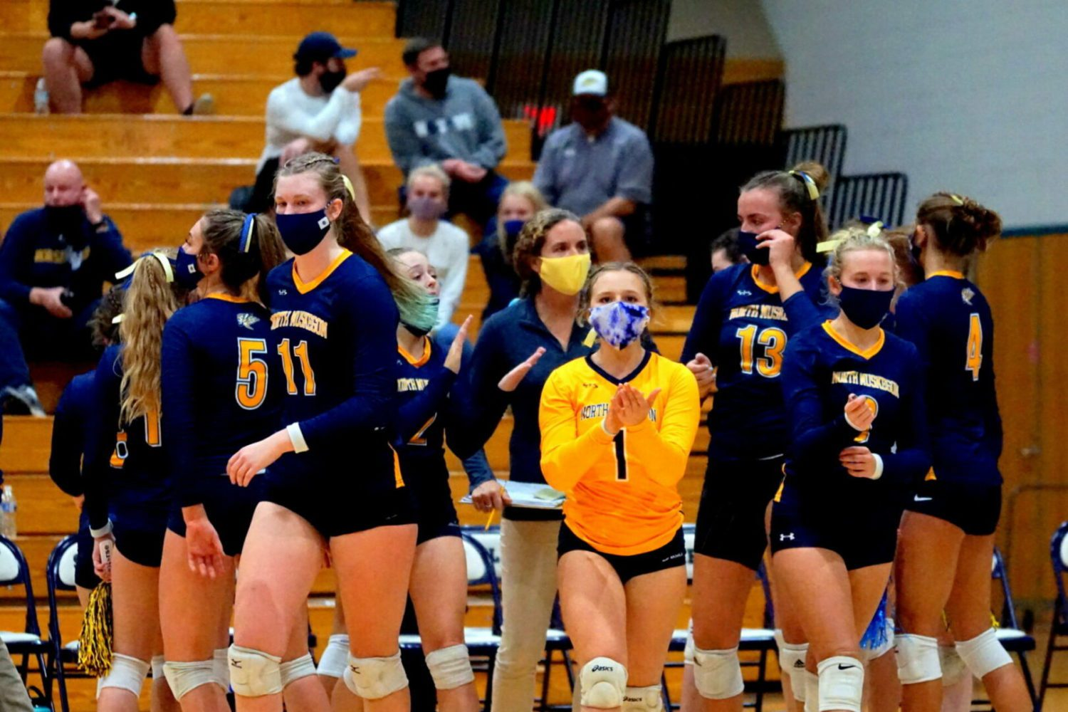 North Muskegon volleyball squad bows out of D3 regionals with a four-set loss to Calvin Christian