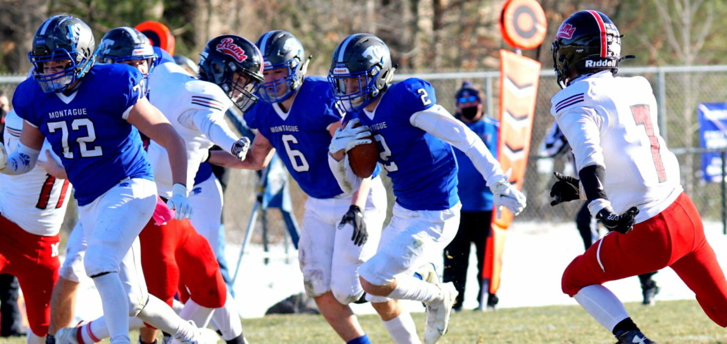 Montague plows past Montrose 41-16 in regional final, ready to avenge last year's heartbreaking loss in state semifinals