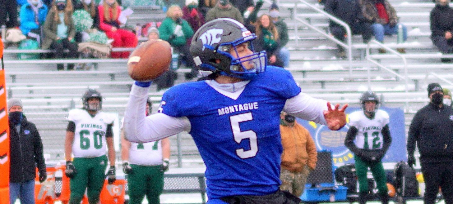 Montague football team will try to put finishing touches on a perfect season in Division 6 state finals on Friday